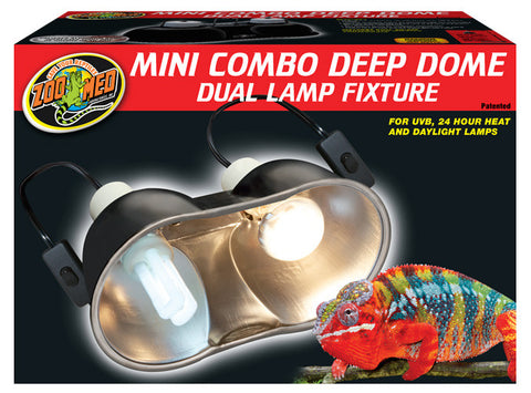 Zoo Med Mini Combo Deep Dome Dual Lamp Fixture