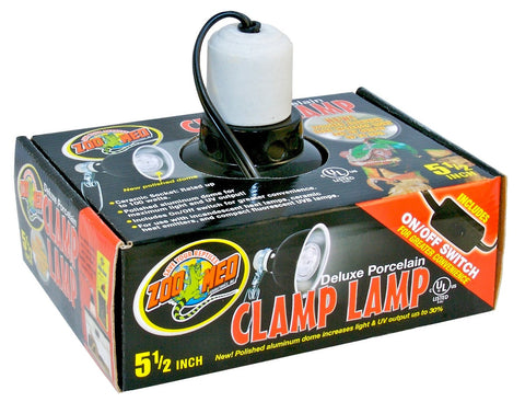 "Zoo-Med 5.5 "" Deluxe Porcelain Clamp Lamp"