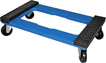 blue moving dolly for moving heavy household furniture