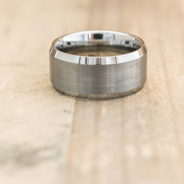 10mm Tungsten Carbide Satin Beveled Ring