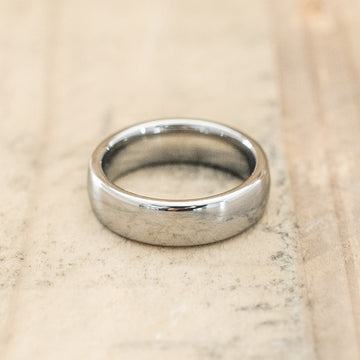 6mm Tungsten Carbide Half Round Domed Ring
