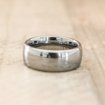 8mm Tungsten Carbide Half Round Domed Ring