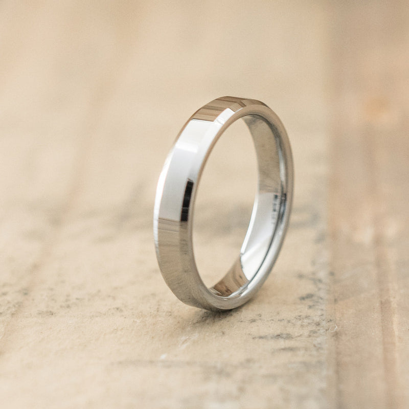 4mm Tungsten Carbide Beveled Ring