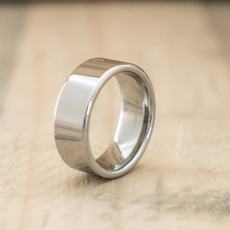 8mm Tungsten Carbide Flat Pipe Cut Ring