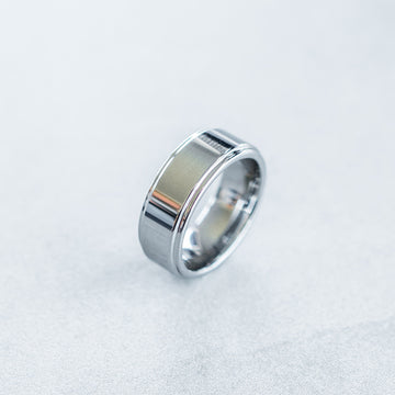 8mm Tungsten Carbide Step Edge Ring