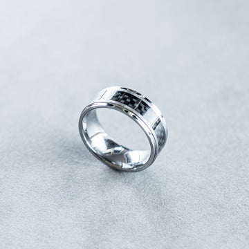 8mm Polished Tungsten with Carbon Fiber Inlay