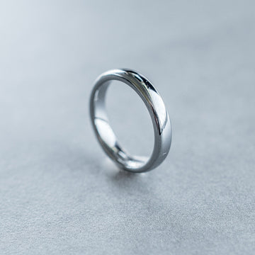 4mm Tungsten Carbide Half Round Domed Ring