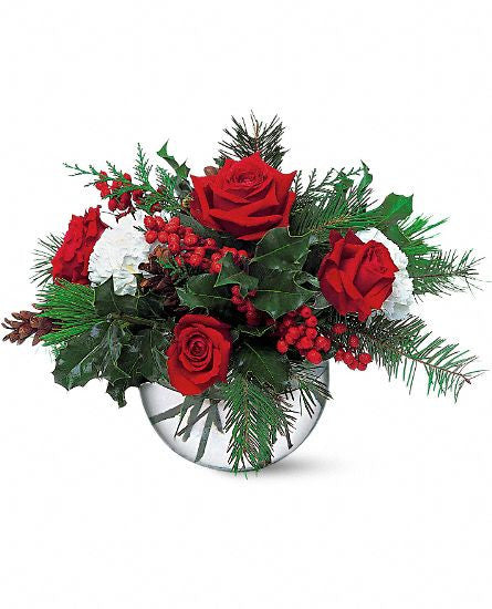 The Christmas Bubble Bowl is a lovely composition to highlight your holiday decor.