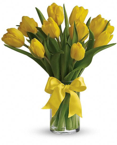 EFM111 Sunny Yellow Tulips - Euro Flowers Mississauga ON