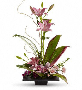 EFM124 Imagination Blooms with Cymbidium Orchids - Euro Flowers Mississauga ON
