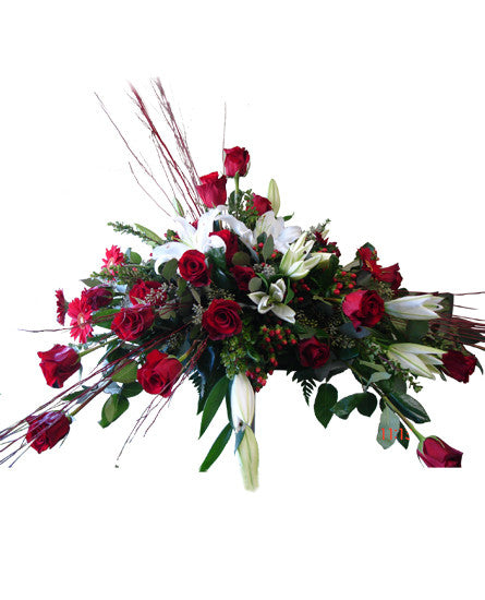 EF121 - Remembrance Casket Spray - Euro Flowers Mississauga ON