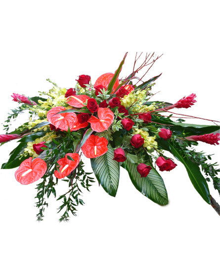 EF124 - Tropical Casket Spray - Euro Flowers Mississauga ON
