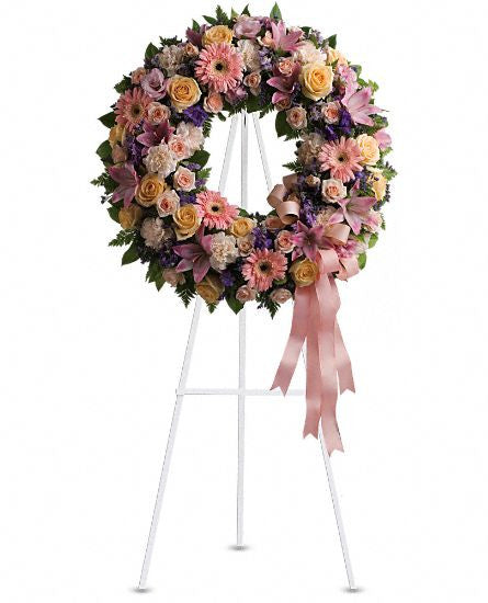 EF137 - Graceful Wreath - Euro Flowers Mississauga ON