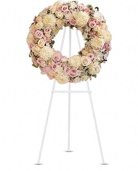 EF138 - Peace Eternal Wreath - Euro Flowers Mississauga ON