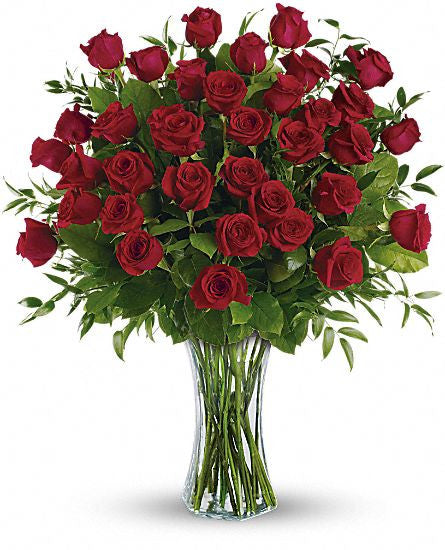 EFV103 Three dozen long stemmed roses - Euro Flowers Mississauga ON