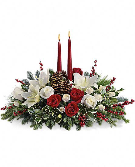 EFX108 Christmas Wishes Centerpiece - Euro Flowers Mississauga ON