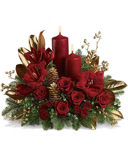 EFX114 Candlelit Christmas - Euro Flowers Mississauga ON