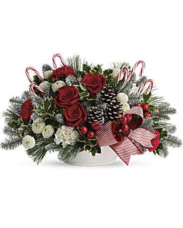 EFX143 - Jolly Candy Cane Bouquet - Euro Flowers Mississauga ON