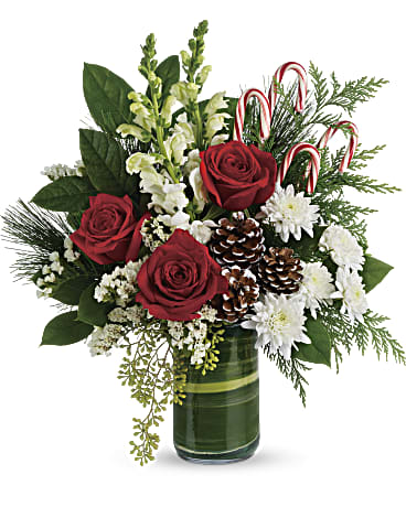 TFX145 - Festive Pines Bouquet - Euro Flowers Mississauga ON