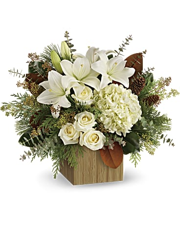 EFX144 - Snowy Woods Bouquet - Euro Flowers Mississauga ON