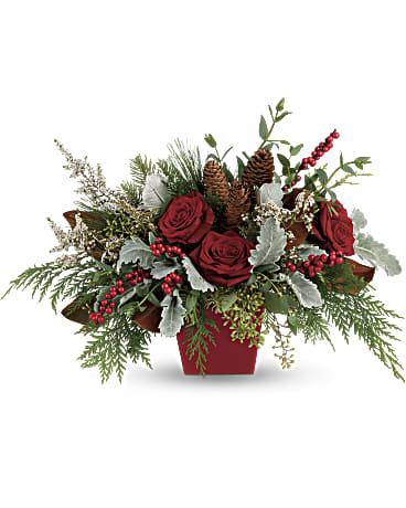 EFX102 Winter Blooms Centerpiece - Euro Flowers Mississauga ON
