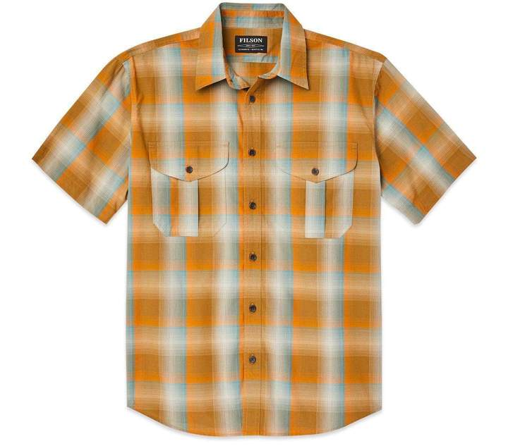 Filson SS Feather Cloth Shirt - Men's - DrkGld