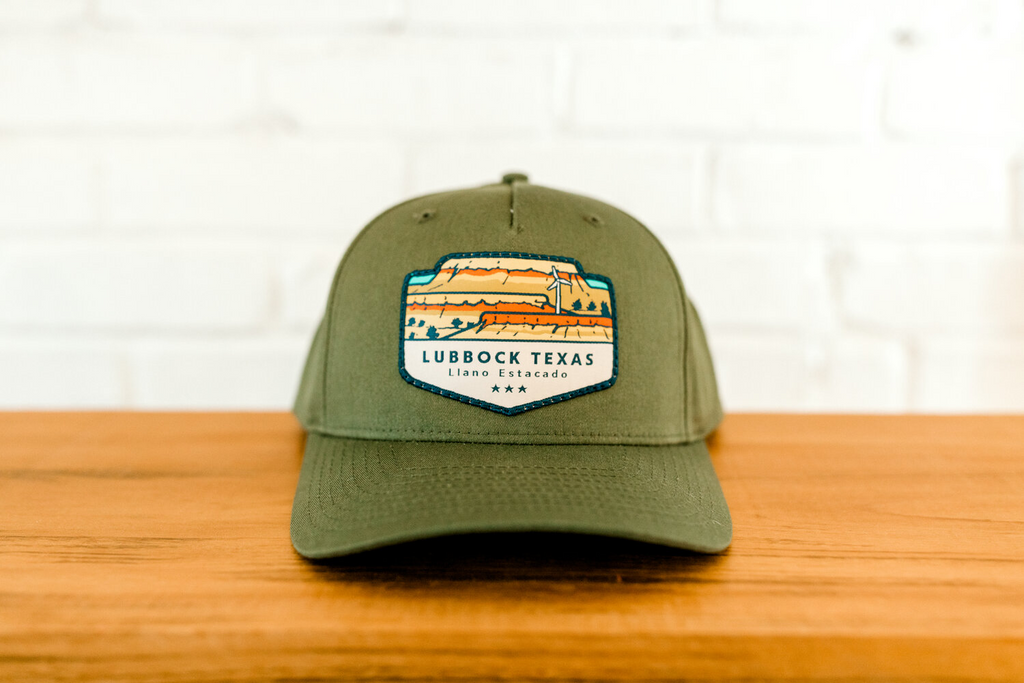 Hometown Hats Lubbock Curved Bill Snapback - Olive