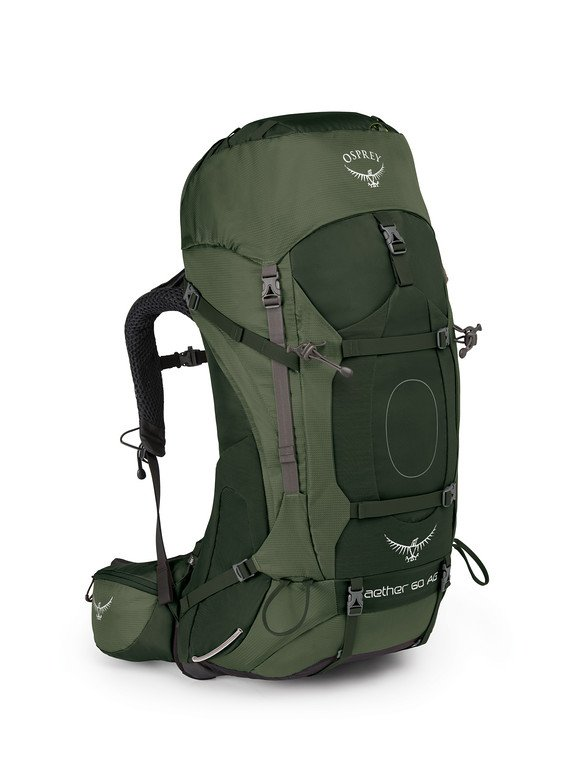 Osprey Aether AG 60L Backpack - ADIRONDACK GREEN