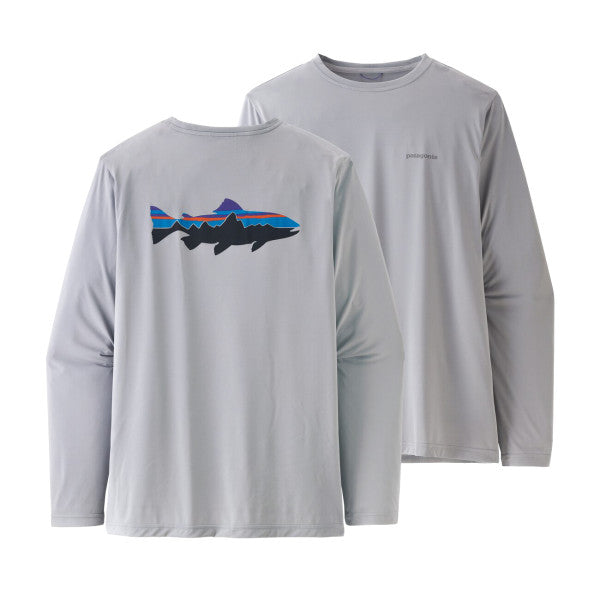 Patagonia LS Capilene® Cool Daily Fish Graphic Shirt - Men's