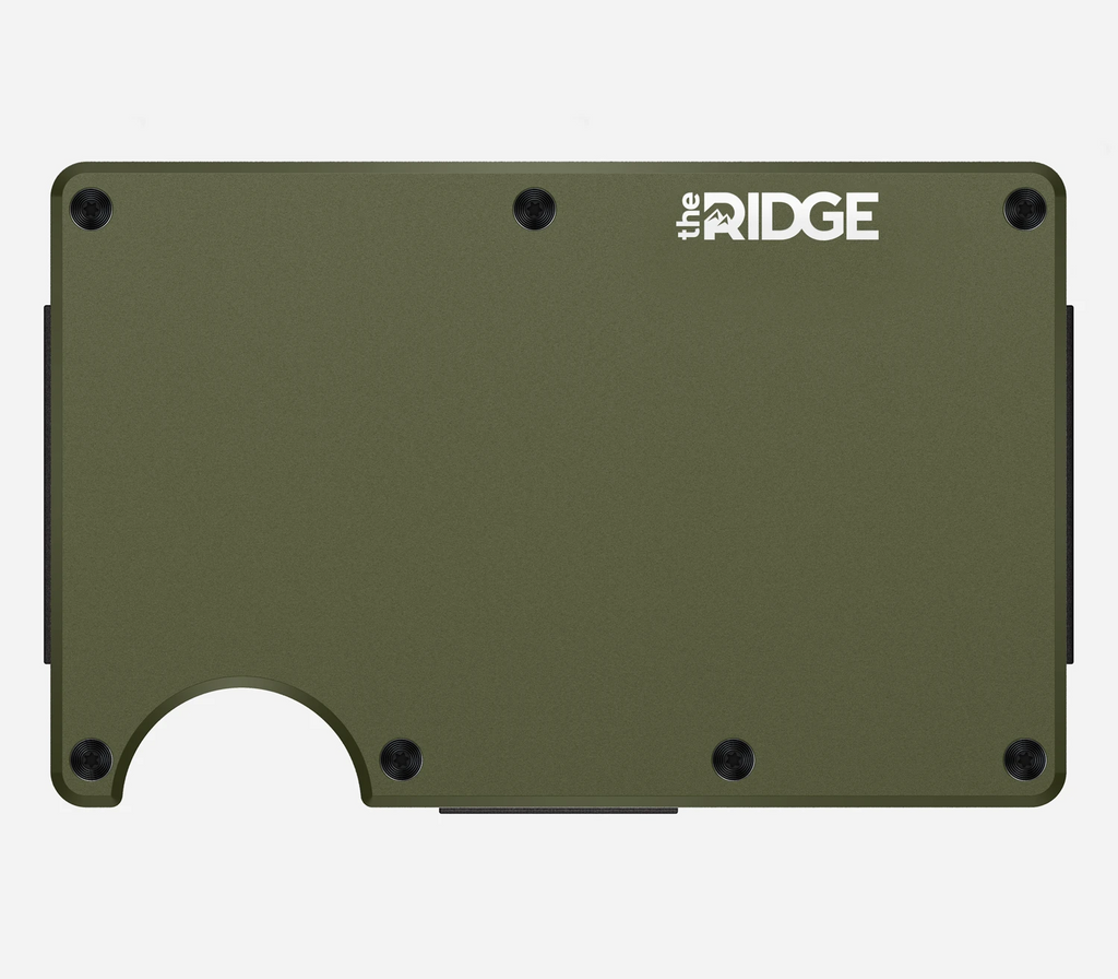 Ridge Wallet - Aluminum Strap - OD Green