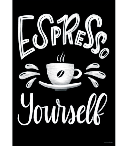 Industrial Cafe Espresso Yourself Poster