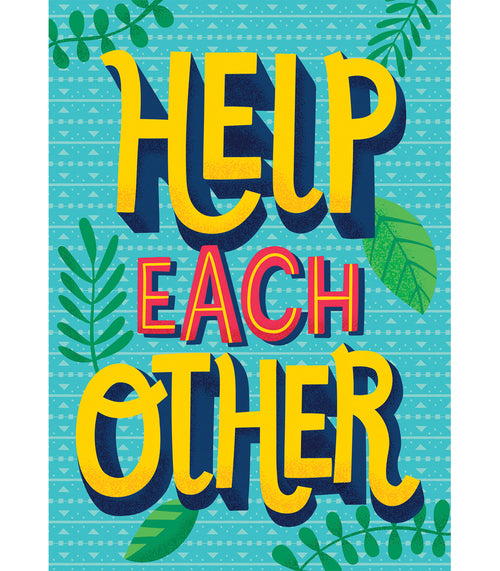 One World Help Each Other Poster