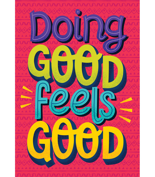 One World Doing Good Feels Good Poster