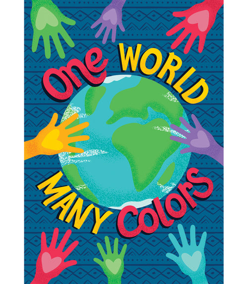 One World One World Many Colors Poster