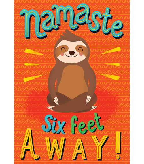 One World Namaste Six Feet Away! Poster