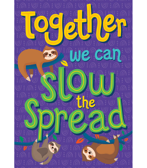 One World Together We Can Slow the Spread Poster