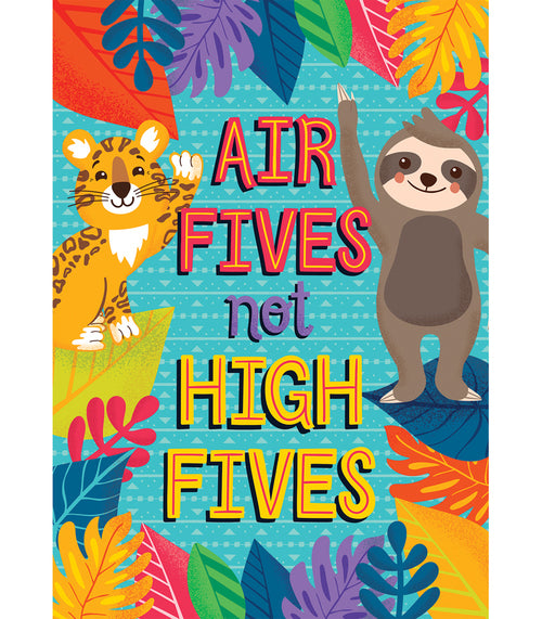 One World Air Fives Not High Fives Poster