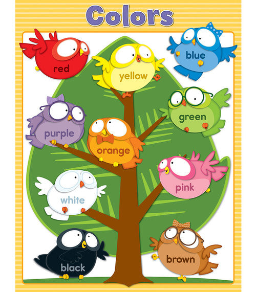 Owl Pals Colors Chart