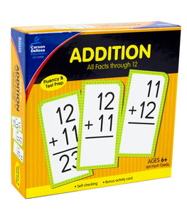 Addition All Facts through 12 Flash Cards