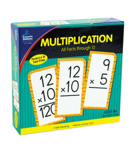 Multiplication All Facts through 12 Flash Cards