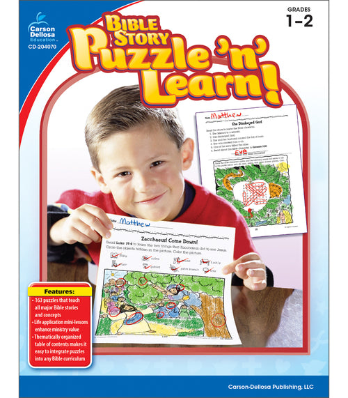 Bible Story Puzzle 'n' Learn!, Grades 1 - 2
