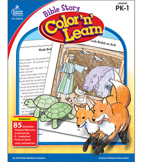 Bible Story Color 'n' Learn!, Grades PK - 1
