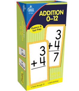 Addition 0-12 Flash Cards, Ages 6 - 8