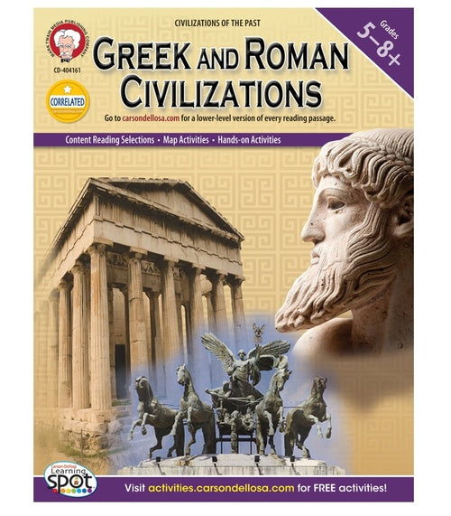 Greek and Roman Civilizations, Grades 5 - 8