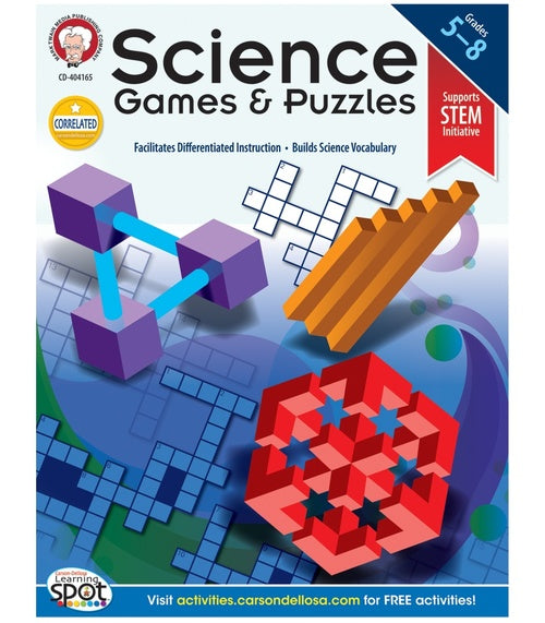 Science Games and Puzzles, Grades 5 - 8
