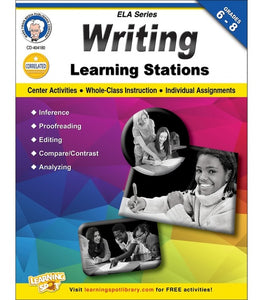 Writing Learning Stations, Grades 6 - 8