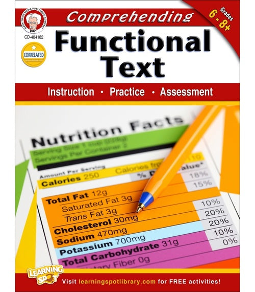 Comprehending Functional Text, Grades 6 - 8