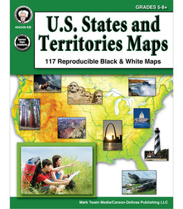 U.S. States and Territories Maps, Grades 5 - 8