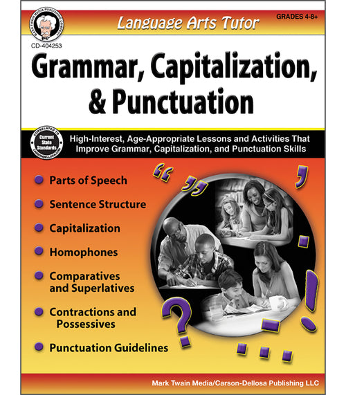 Language Arts Tutor: Grammar, Capitalization, and Punctuation, Grades 4 - 8
