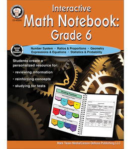 Interactive Math Notebook Resource Book, Grade 6